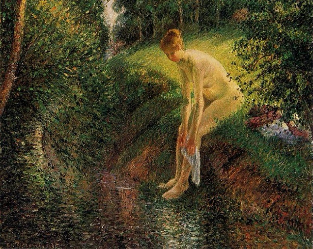 Camille Pissarro bather-in-the-woods-1895 (637x507, 539Kb)