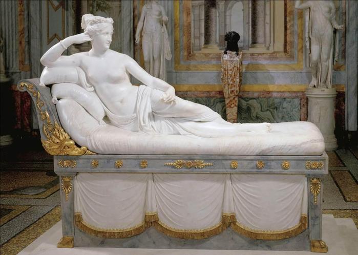 Antonio Canova Paolina Borghese Bonaparte as Venus Victrix (4) (700x498, 316Kb)