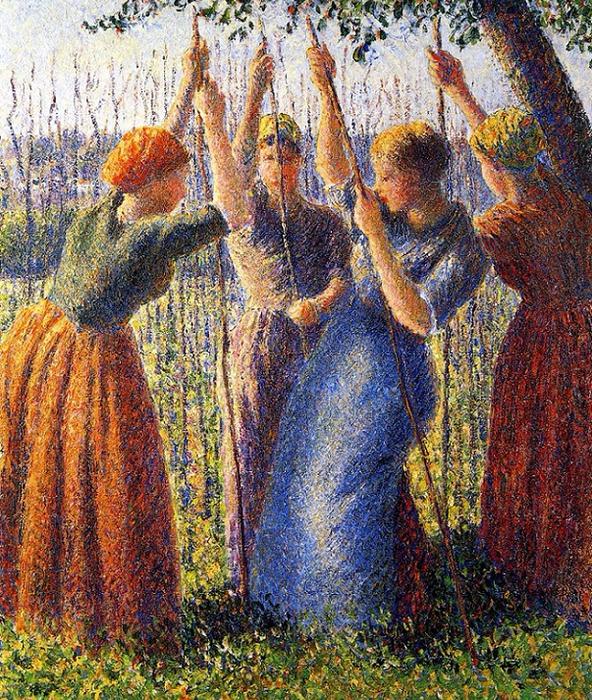 Peasant Women Planting Stakes, 1891  (592x700, 734Kb)