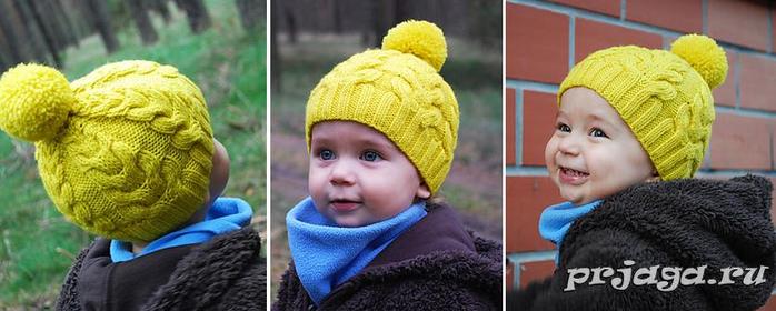 Детская шапка «Я люблю косы»2 (700x280, 231Kb)