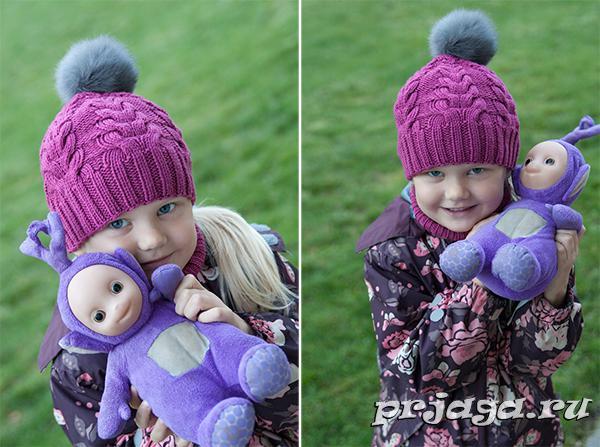 Детская шапка «Я люблю косы»6 (600x447, 258Kb)