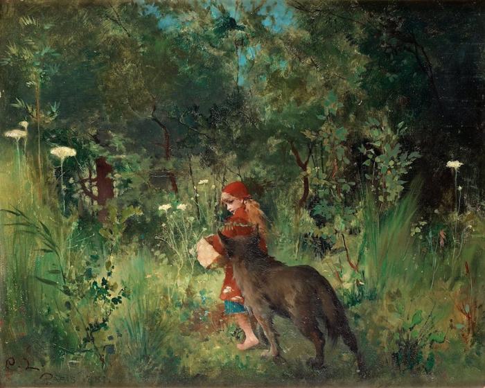 "alt=""Странная сказка"" Иллюстрация Carl Larsson/2835299_strannaya_skazka (700x560, 348Kb)"
