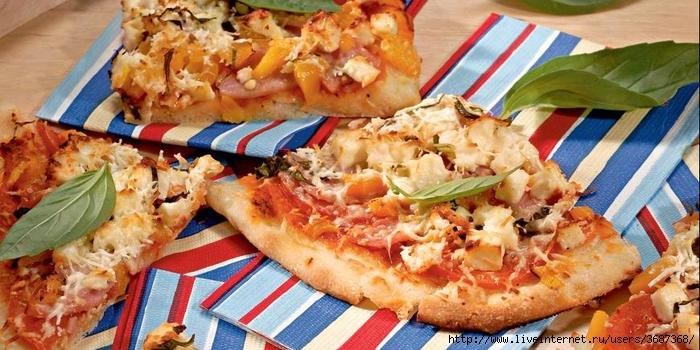 Пицца с сыром и ветчиной (700x350, 258Kb)