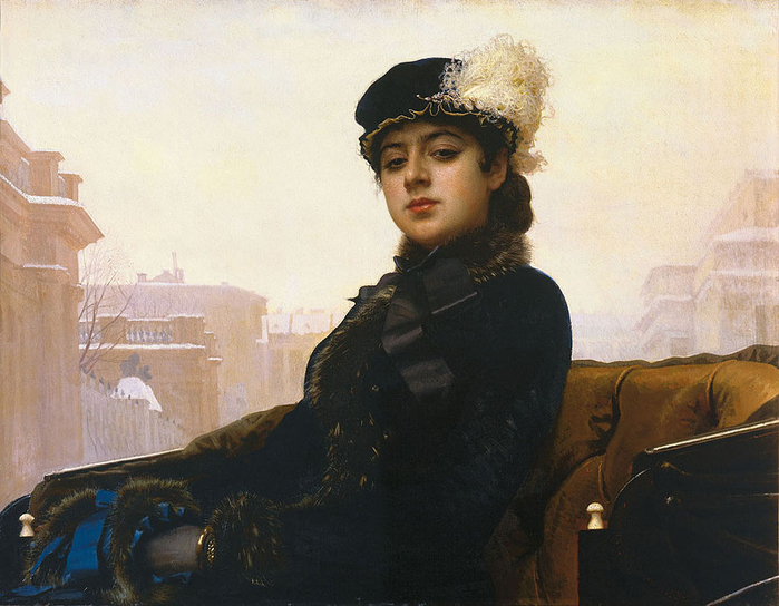 1024px-Kramskoy_Portrait_of_a_Woman (600x444, 377Kb)