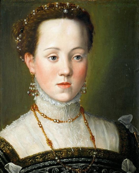 Джузеппе Арчимбольдо   -  Эрцгерцогиня Анна Австрийская (564x700, 139Kb)