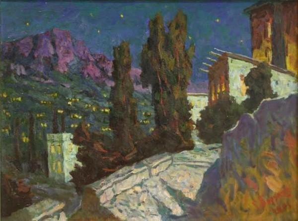 Борунов Гурзуф Южная ночь (600x445, 240Kb)