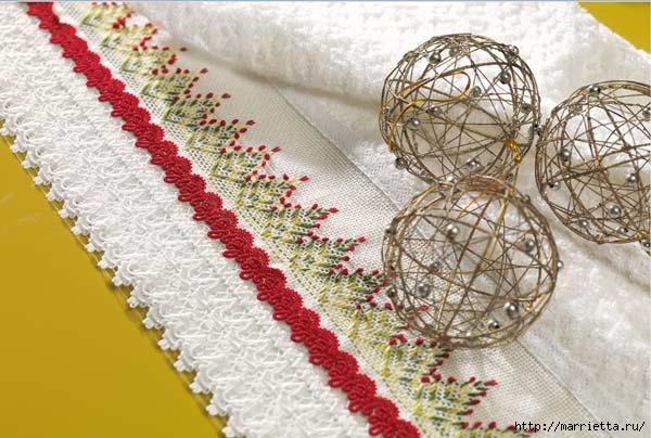 Вышиваем бордюры на полотенце. Схемы (2) (600x404, 171Kb)