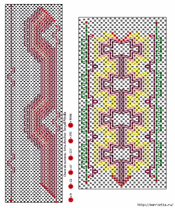 Вышиваем бордюры на полотенце. Схемы (13) (587x700, 492Kb)