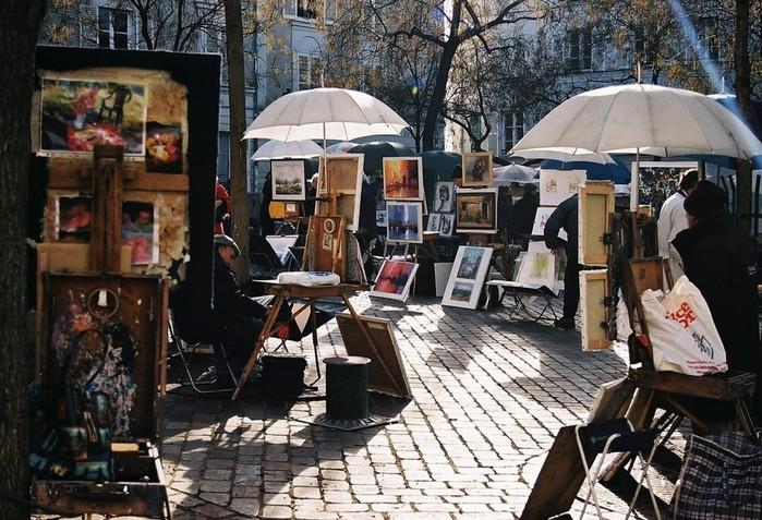 Прекрасный Париж— фотографии улиц Вечного Монмартр