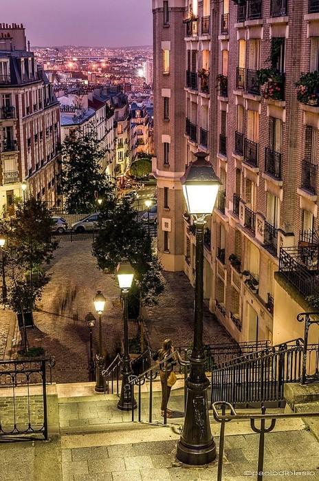 Прекрасный Париж - фотографии улиц Вечного Монмартр