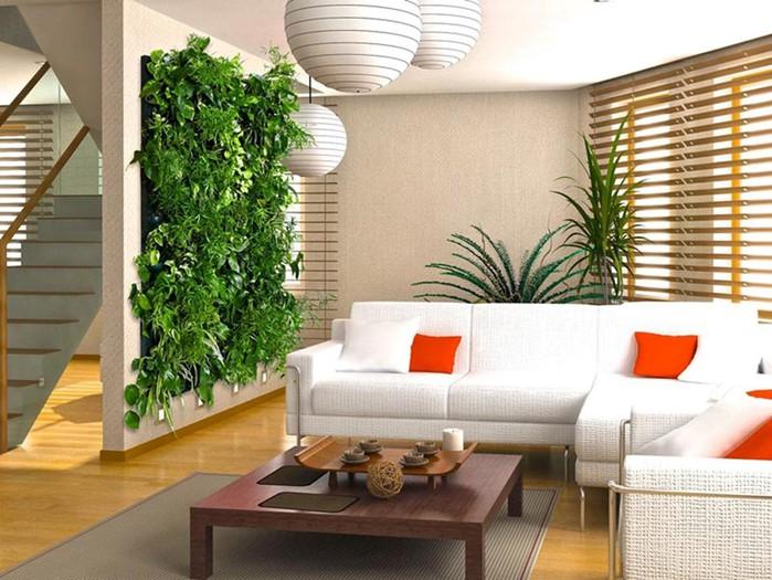 Фитодизайн интерьера   оформление дома цветами