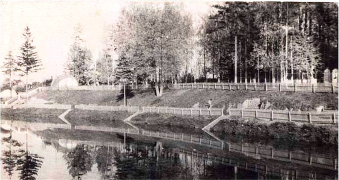 Летний сад .Парк усадьбы Г.К. Горбунова .Середина 60-х годов (700x371, 224Kb)