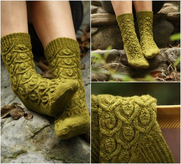 Носочки красивым узором (604x549, 387Kb)