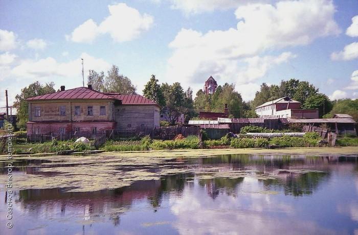 Церковь Вознесения в панораме города Фурманова Ивановской области. (700x461, 97Kb)
