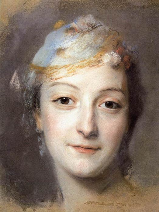 Портрет Мари Фель. Морис Кантен де Латур. 1757 г. (523x698, 266Kb)