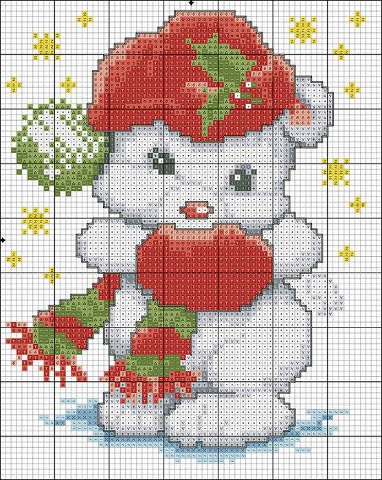 urso ponto cruz (556x700, 167Kb)