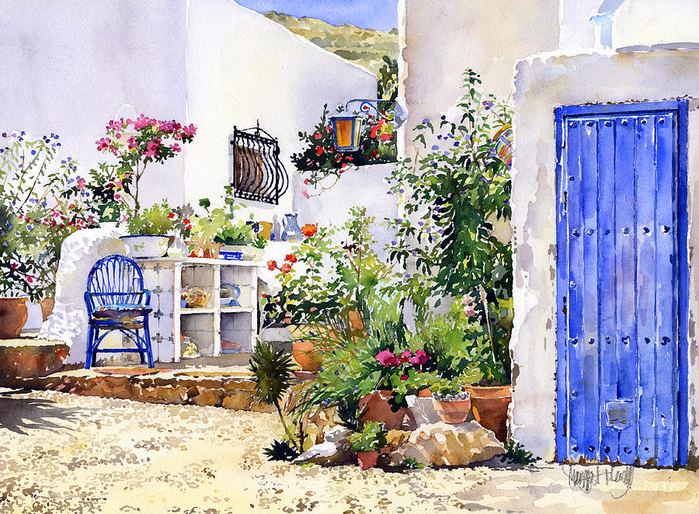 2-an-andalucian-patio-margaret-merry (700x514, 606Kb)