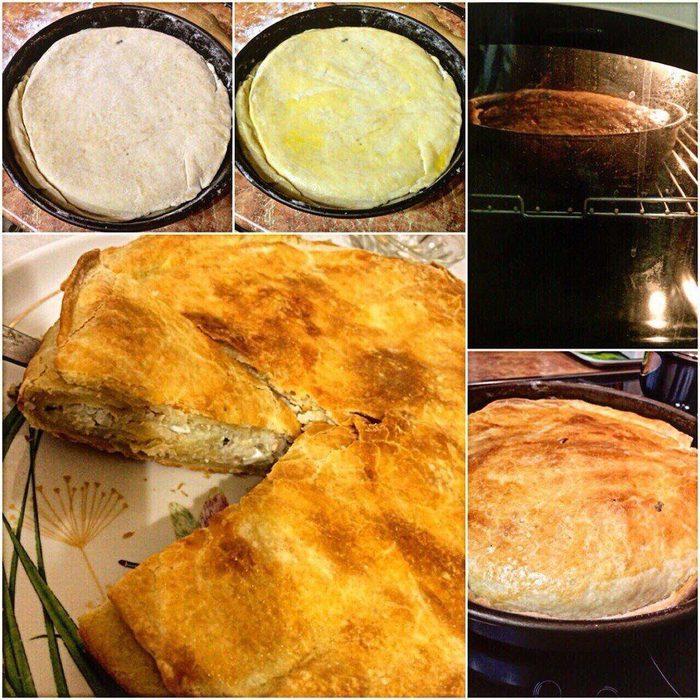 Рыбный пирог тесто на кефире рецепт