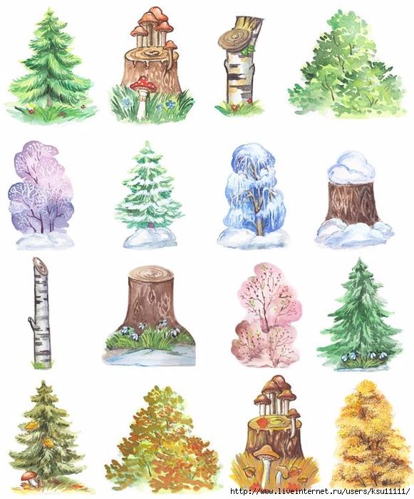 Деревья для кукольного театра