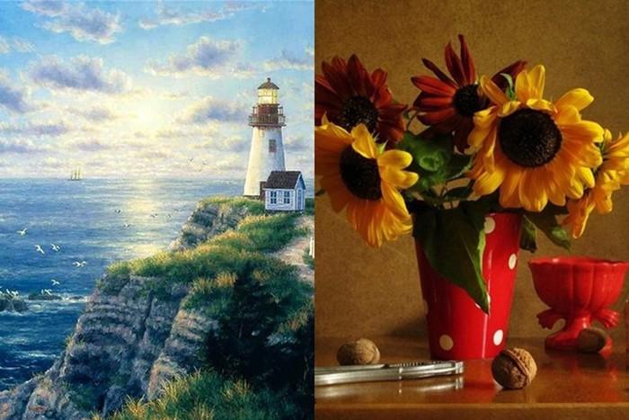 Многогранное искусство: полезные орехи и морские пейзажи