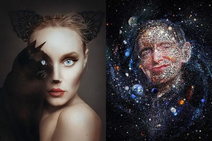 Самые креативные портреты людей (большая коллекция работ разных художников)