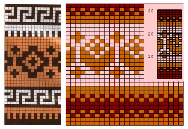 Простые жаккардовые узоры спицами - схемы 3 (639x439, 357Kb)