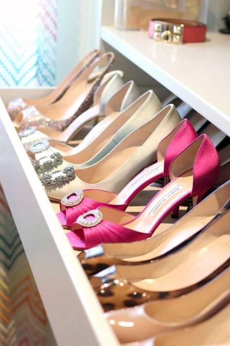Хранение обуви: 10 вдохновляющих идей, которые понравятся каждому