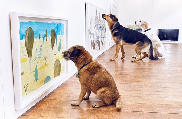 искусство для собак 1 (700x458, 223Kb)