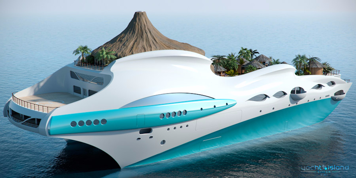 яхта плавучий остров Yacht Island Design 6 (700x350, 257Kb)