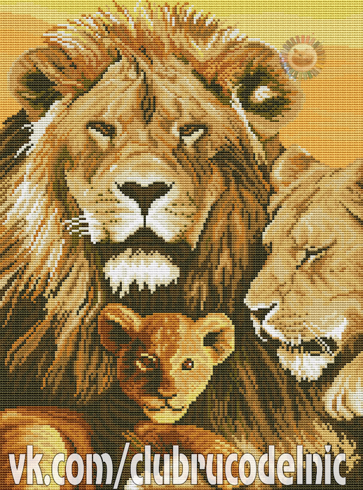 Lion family (518x700, 706Kb)