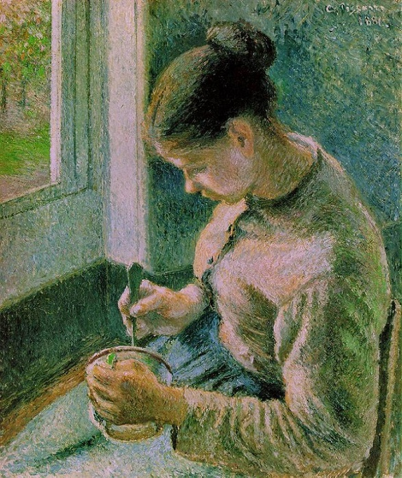 Peasant girl drinking her Coffee, 1881 (587x700, 232Kb)