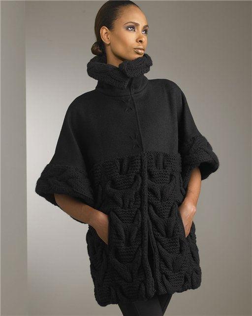 может пальто женское спицами своими руками первого взгляда термобелье