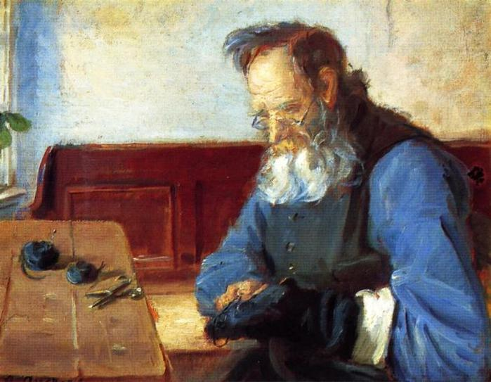Anna-Ancher-A-Man-Mending-Socks (700x543, 58Kb)