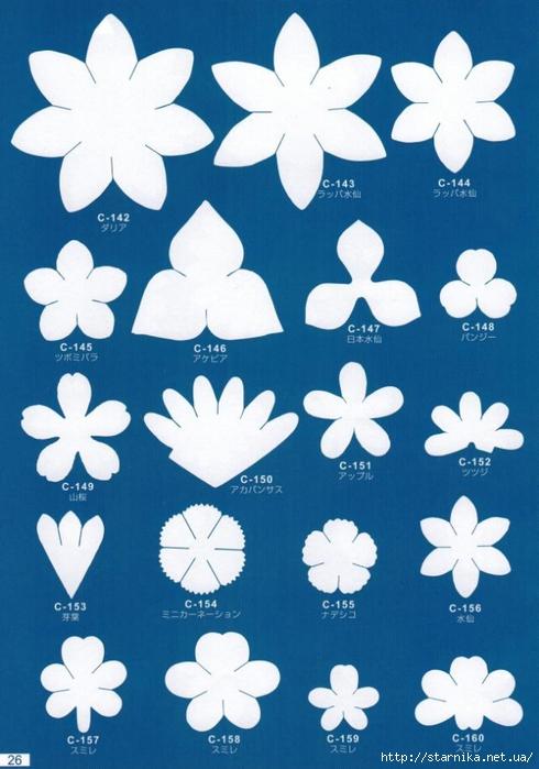 скачать шаблоны для цветов из фоамирана - фото 4