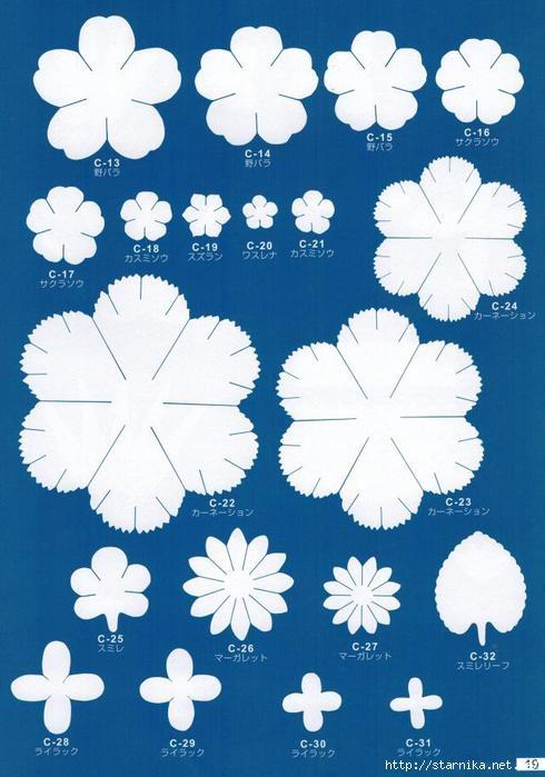 скачать шаблоны для цветов из фоамирана - фото 3