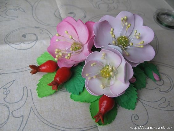 Цветы из фоамирана для открытки с 232