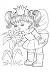 Превью раскраски для девочек (409x604, 145Kb)