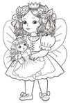 Превью раскраски для девочек 6 (409x604, 154Kb)