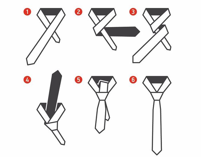 Как завязать галстук простым узлом пошагово