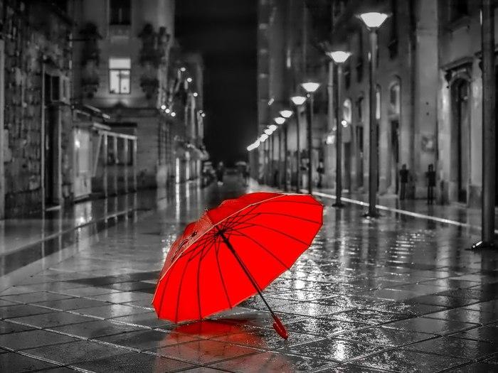 девушка зонт дождь природа  № 3582409 без смс