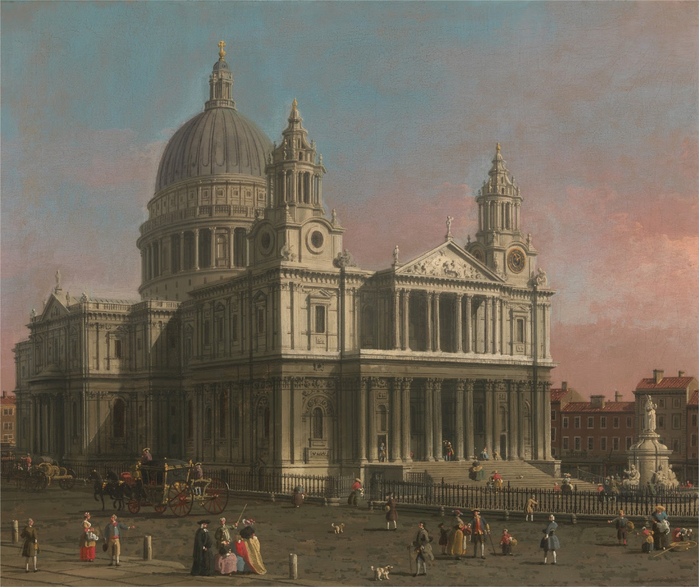 Canaletto - London St. Paul's Cathedral (700x587, 427Kb)
