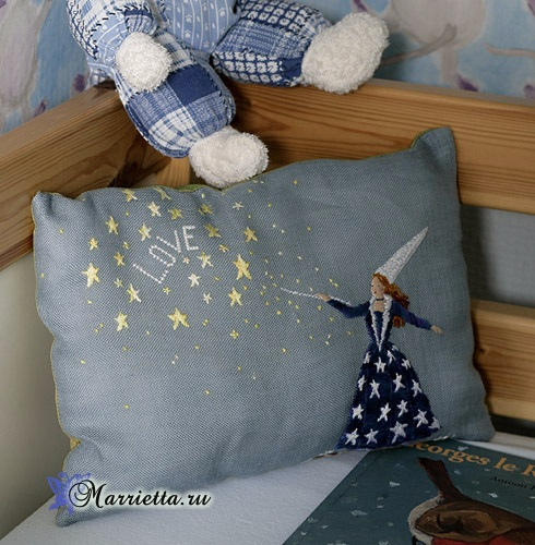 Ночная сказка - вышивка для детской подушки (1) (490x500, 251Kb)
