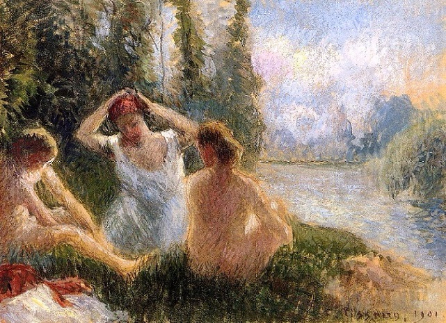 Bathers on the Bank of a River (641x465, 490Kb)