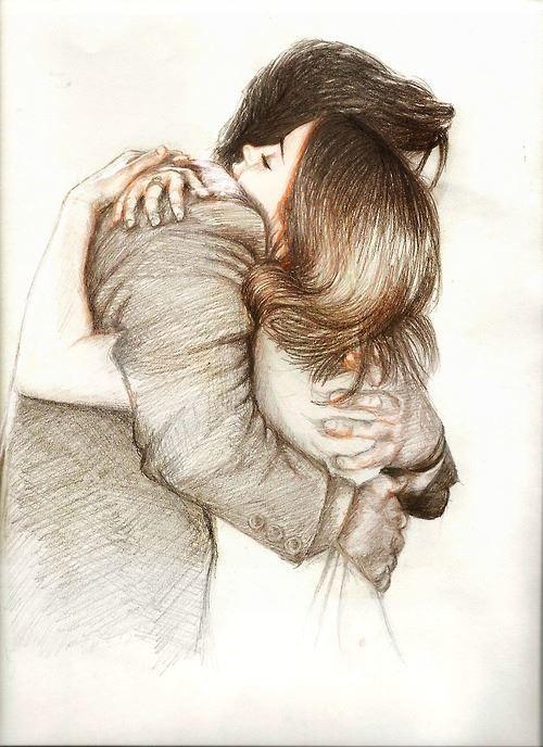 Девушка и парень нарисованные фото