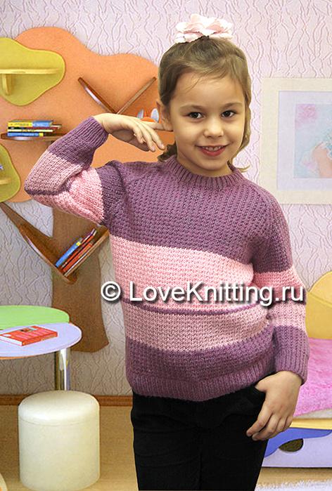 10 Ав Пуловер в полоску МТ2 (472x700, 398Kb)