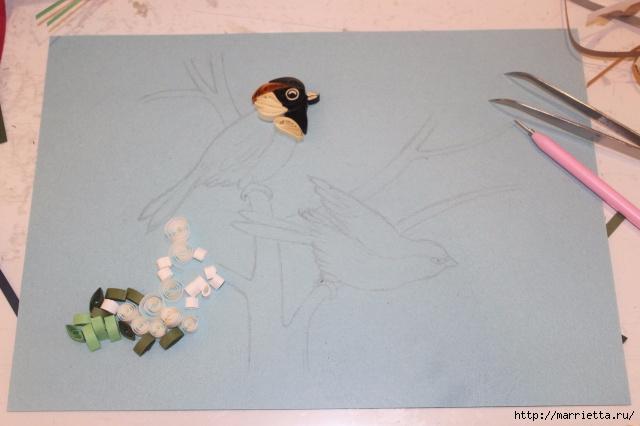 Панно с цветущим деревом и птицами в технике квиллинг (13) (640x426, 146Kb)