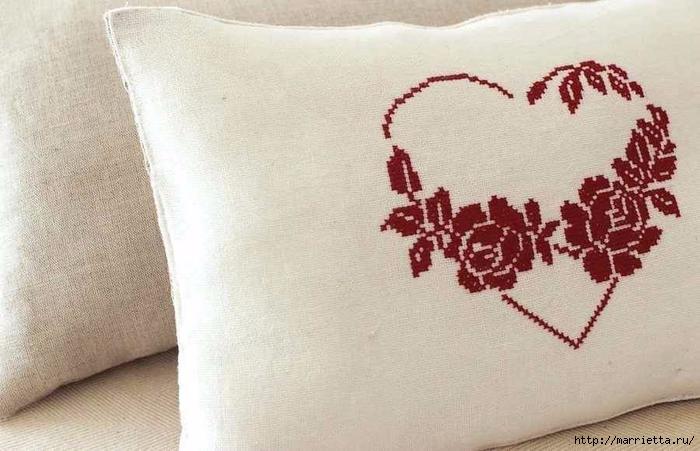 Вышиваем розы на скатерти и салфетках. Схемы (2) (700x451, 228Kb)