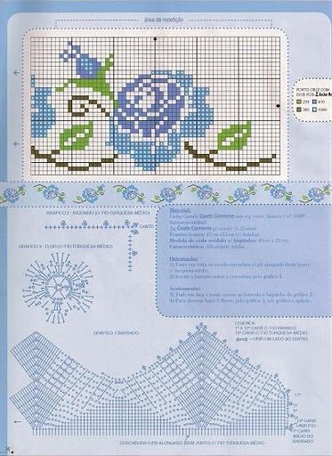 Вышиваем розы на скатерти и салфетках. Схемы (6) (373x512, 221Kb)