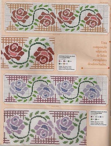 Вышиваем розы на скатерти и салфетках. Схемы (14) (389x512, 286Kb)