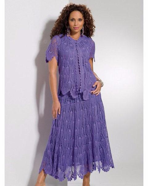 Женские костюм платье крючком